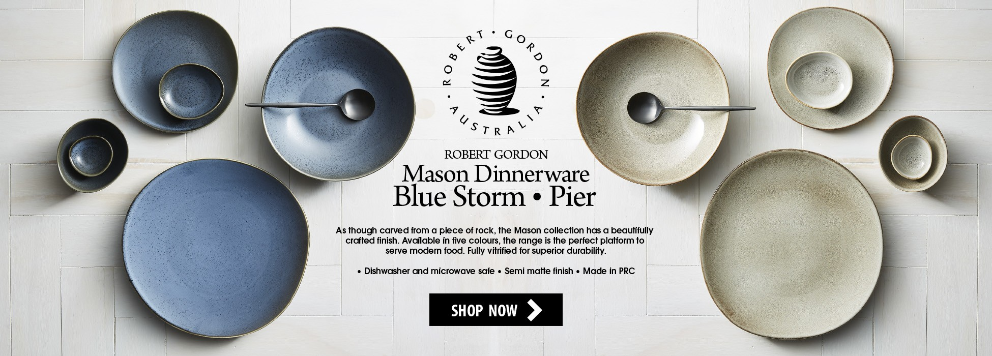 New Robert Gordon - Mason Blue Storm & Pier